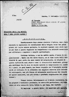 31ª brigata nera S. Parodi di Genova: costituzione e attività