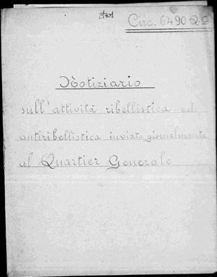 31ª brigata nera S. Parodi di Genova: contrasto attività ribellistica