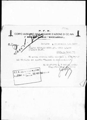 1ª brigata mobile Ricciarelli, poi Barattini
