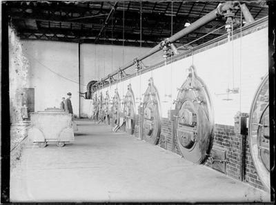 Caldaie della ditta Franco Tosi nell'edifico della nuova filatura del cotonificio Borghi di Varano (VA) - 7 giugno 1904