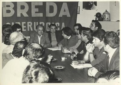 Assemblea di rappresentanti e sindacati della Breda Siderurgica - 1970-1980